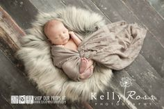 Hypoallergenic & Washable Wolf Gray/Brown Basket Stuffer Long Faux Sheepskin Faux Fur Newborn Photography Props, Newborn Photo Props, Fabric, Soft, Long, Baby Props