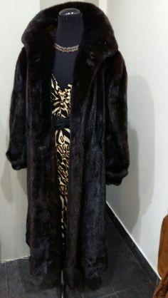 Vendo pelliccia lunga  di visone canadese
