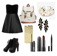"""""""Dark side"""" by luisa-shield on Polyvore featuring RED Valentino, Wet Seal, Sonix, Stila and NARS Cosmetics"""