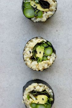 Vegan- Asparagus + Brown Rice Sushi Rolls with Sesame Ginger Sauce ⎮ happy hearted kitchen Sushi Recipes, Veggie Recipes, Asian Recipes, Appetizer Recipes, Whole Food Recipes, Vegetarian Recipes, Cooking Recipes, Healthy Recipes, Appetizers