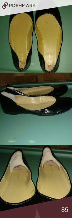 Nine West Black Shoes These shoes has been worn a lot but are still nice shoes. Very comfy. Make an offer! Nine West Shoes Flats & Loafers