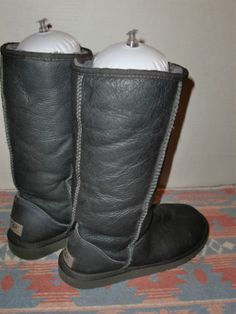 UGG Australia Leather Sheepskin Classic Tall 5823 Metallic Women's Boots Size 7 | eBay