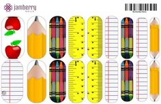 Calling ALL teachers! How adorable are these?? The Nail Art Studio by Jamberry let's you create your own nail wrap design! Design your own custom nail wraps @ https://sarahterrell.jamberrynails.net