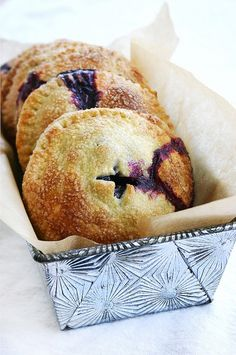 blueberry, basil and goat cheese hand pies recipe