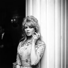 Brigitte Bardot smoking a cigarette