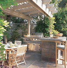 Outdoor kitchen more elle decor outdoor living house ideas design
