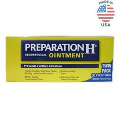 Preparation H USA Ointment Twin Pack (4.0 Oz)