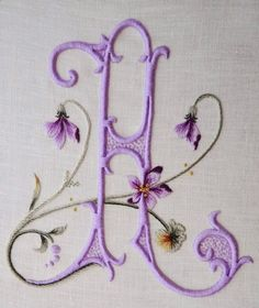Elisabetta Sforza is known for her beautifully designed and embroidered monograms.   Image courtesy of Elisabetta's blog at http://elisabettaricami.blogspot.ca/2013/08/a-di-anita.html