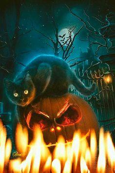 Хэллоуин - анимация на телефон №1291515