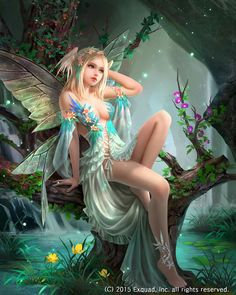 Fantasy Elves, Faries, Sprite, Nymph, Pixie, Faeries...found in Enchanted Forests and are Whimsical, Mischievous, mystical creatures! ;)