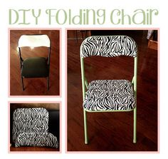 whimsy painted chairs on pinterest metal folding chairs folding chairs and metal chairs. Black Bedroom Furniture Sets. Home Design Ideas