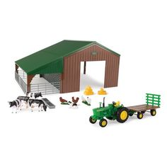 Tomy 1:32 Shed John Deere Tractor Wagon with Animals - 47024 | Blain's Farm & Fleet