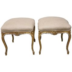Pair of French Louis XV Style Benches   From a unique collection of antique and modern benches at https://www.1stdibs.com/furniture/seating/benches/