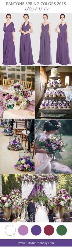 ultra violet purple bridesmaid dresses pantone color spring 2018 #weddingcolors #weddinginspiration #bridalparty #bridesmaiddress