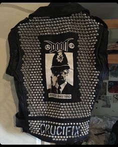 ukstudspunk The combination of studs and a Doom patch is a classic! Jacket by Anarcho Punk, Crust Punk, Punk Jackets, Studded Leather Jacket, Battle Jacket, Youth Culture, Crucifix, Punk Rock, Studs