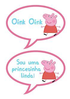 Plaquinhas Divertidas Peppa Pig: