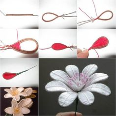 How to DIY Beautiful Flowers from Wire and Thread   iCreativeIdeas.com Like Us on Facebook ==> https://www.facebook.com/icreativeideas