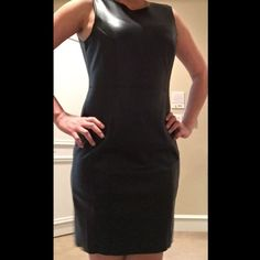 Faux leather dress Stunning faux leather dress. Walk in with style with some high heels. Zipper in the back for closure. NWT. Size 8 INC International Concepts Dresses Midi