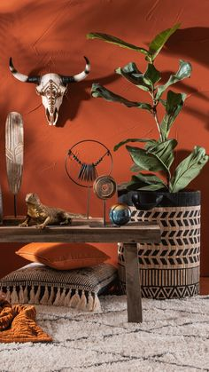 Room Colors, Wall Colors, Home Interior Design, Interior Styling, Home Living Room, Living Room Decor, Orange Rooms, African Home Decor, Bohemian Bedroom Decor