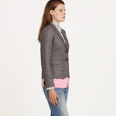 Schoolboy blazer in houndstooth - blazers & vests - Women's Women_Shop_By_Category - J.Crew