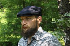Blue Tweed Vintage Cap