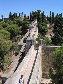 Castillo o Fortaleza de Gibralfaro en Málaga.