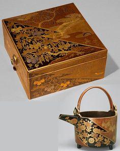 Japanese shikki (lacquerware) Momoyama-period Japanese Screen, Japanese Furniture, Japan Shop, Decoupage, Art Japonais, Japanese Porcelain, Laque, Small Art, Tea Bowls