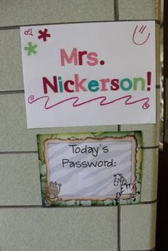 Fantastic: my students do not leave the room until we talk about the password.  I am using words from our Graduate Profile that our school district requires we display.
