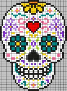 This badass lapgan was one of the first big projects that I made for just me. This badass lapgan was one of the first big projects that I made for just me. Cross Stitching, Cross Stitch Embroidery, Embroidery Patterns, Cross Stitch Designs, Cross Stitch Patterns, Cross Stitch Skull, Modele Pixel Art, Pixel Drawing, Graph Paper Art