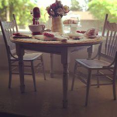 Miniature Shabby cottage table 1:12