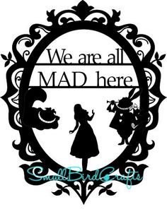 TEMPLATE Alice In Wonderland Paper Cutting by SmallBirdCrafts
