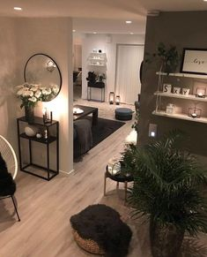 Room Interior, Interior Design Living Room, Living Room Designs, Apartment Interior, Cheap Apartment, Apartment Layout, White Apartment, Cozy Apartment, Interior Livingroom