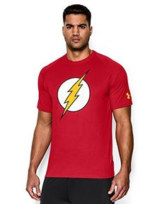 Lightweight UA Tech™ fabric with an ultra-soft, natural feel for unrivaled comfort. Signature Moisture Transport System wicks sweat & dries fast. Anti-odor technology prevents the growth of odor causing microbes. Smooth flatlock seams allow chafe-free motion. 3.9 oz. Polyester. Imported. Flash is property of ©DC Comics.