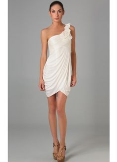 Best Mini One Shoulder Sleeveless Column Satin Cocktail Dresses - Wedding Dresses