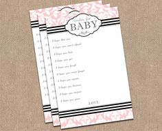 Kimberly J. Design: Love this idea for a game at baby shower!
