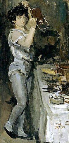 Isaac Israels (1865 - 1934) Balletdanseres in haar kleedkamer, circa 1913 Olieverf op doek – Kröller-Müller Museum