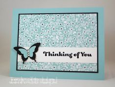 Butterfly Thinking of You Card with Stampin' Up! Sweet Sorbet Designer Series Paper
