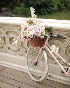 It's a beautiful world Fresh Flowers, Pretty Flowers, Pretty Pastel, Bicycle Basket, Bicycle Art, Bicycle Pictures, Blair Eadie, Garden Animals, Love Garden