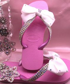 Swarovski Crystal Havaiana Sandals by HollywoodCouture on Etsy 889542aa5b31
