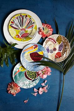 Bird Reverie Dessert Plate - anthropologie.eu