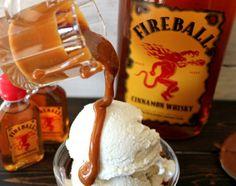 Fireball Caramel sauce - unwrap caramels, add Fireball, devour.