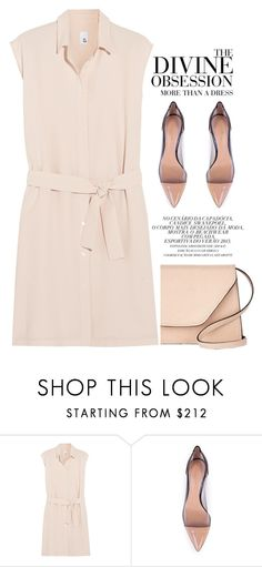 """""""More than a dress"""" by galina-gavrailova ❤ liked on Polyvore featuring Iris & Ink, Gianvito Rossi, Vera Wang and Valextra"""