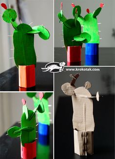 DIY Cardboard cactus - armadillo rodeo? @Stacy Thomas