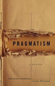 """Book Cover, """"Pragmatism"""""""