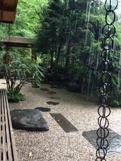 John Humes Japanese Stroll Garden, Mill Neck, NY. A gentle rain enhances the experience.  Photo by C. Pruitt.