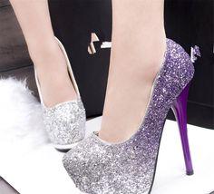 SR pumps glitzer Damen Schuhe Plateau High Heel Party Ball Hochzeit Klassische Pumps High Heels