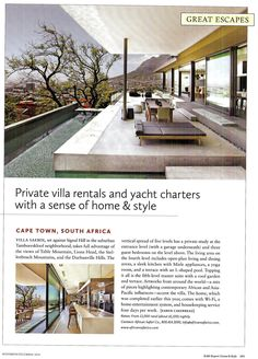 The Robb Report   November 2014   Villa Saebin featured All Over The World, Around The Worlds, Cape Town, South Africa, Entrance, The Neighbourhood, November, Villa, Mansions