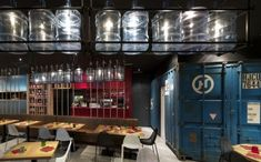 How Commercial Spaces Use Recycled Materials In Beautiful Designs. Bathrooms in a shipping container