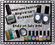 Enter for a chance to win some amazing prizes!! http://www.samariums-swatches.com/2013/06/my-two-year-blogiversary-giveaway.html?showComment=1370828241225#c6042499476775547919