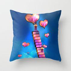 Spread the love Throw Pillow by Annabellerockz - $20.00